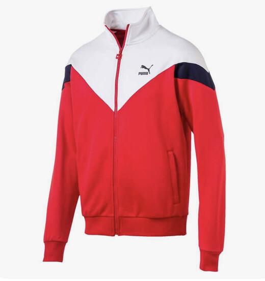 PUMA - Red/White Zip-Up Jacket
