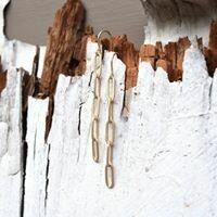 Matte Gold Paper Clip Chain Earrings