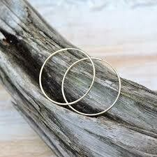 Gold Filled Endless Hoop Earrings- 1.5""