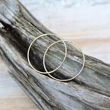 Gold Filled Endless Hoop Earrings- 1.5