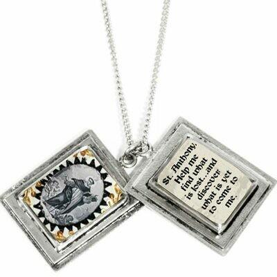 True Prayer St Anthony charms necklace