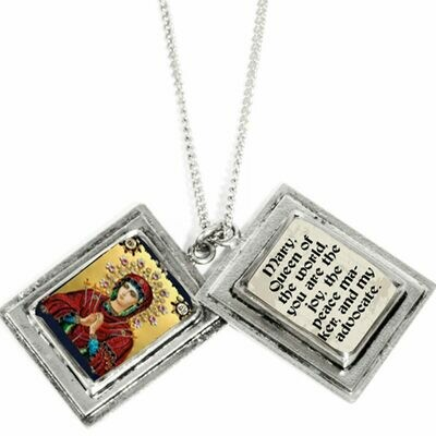 True Prayer Mary Queen of the World charm necklace
