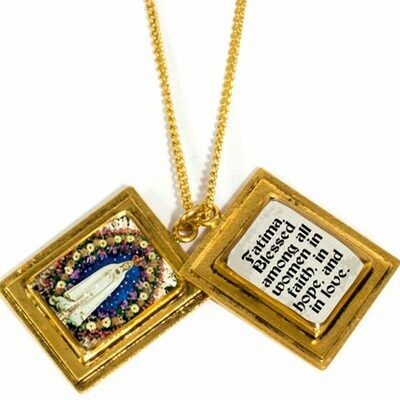 True Prayer Fatima charm necklace