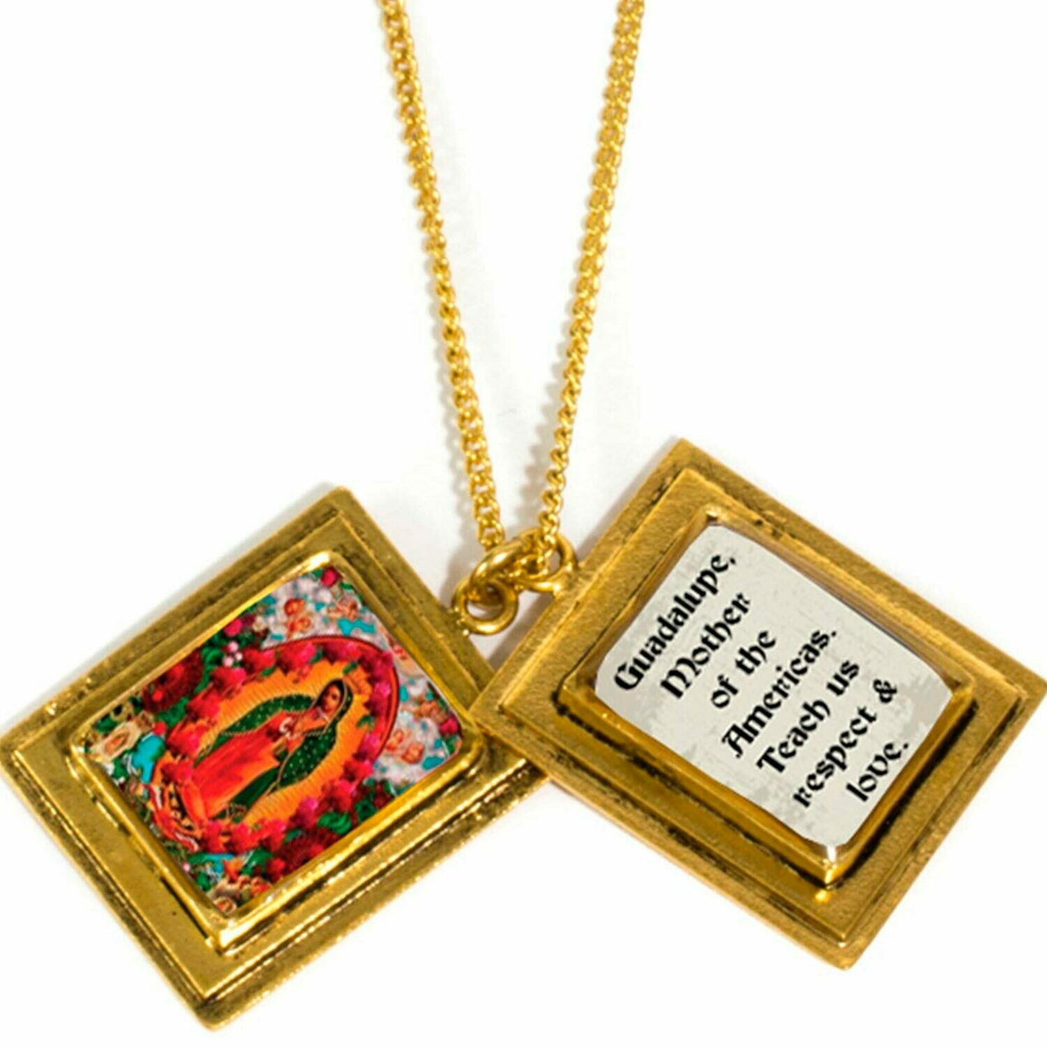 True Prayer Guadalupe charm necklace