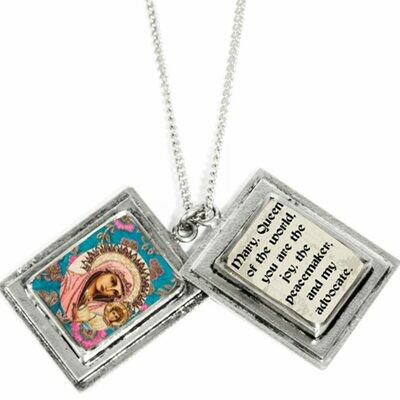 True Prayer Mary A Mother charm necklace