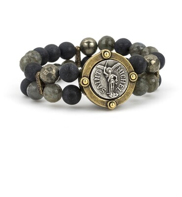Double Strand Midnight Mix and Mini St. Benedict Medallion