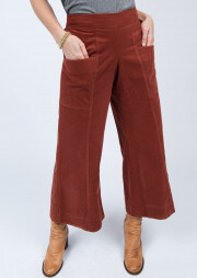 Slouch pocket Corduroy Pant- Rust