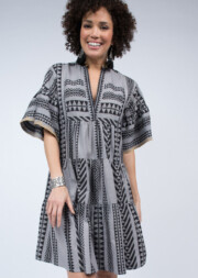 Aztec Tiered Flutter Dress