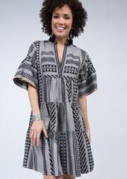 Aztec Tiered Flutter Dress