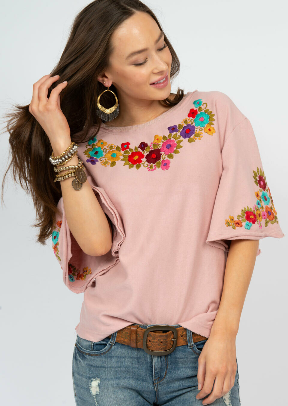Flutter Sleeve Mex Top