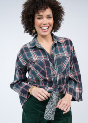 Bell & Tie Top Plaid