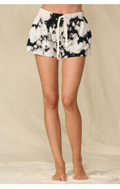Grey/black Tie Dye short