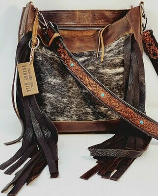 Cowhide Zipper Bag