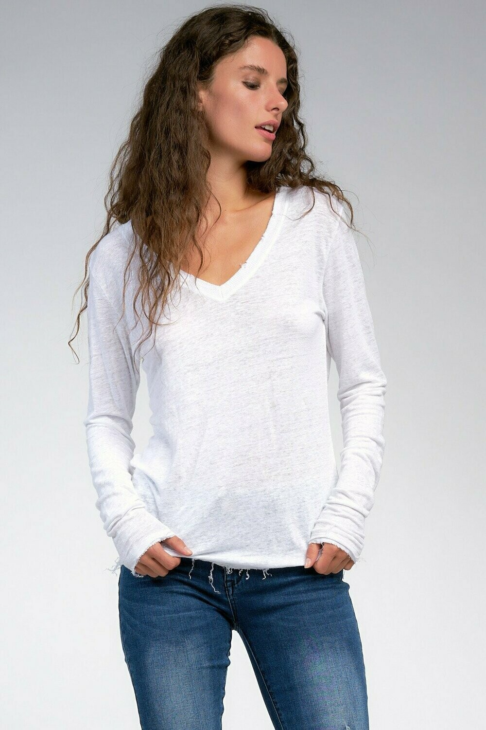 White Distressed Top