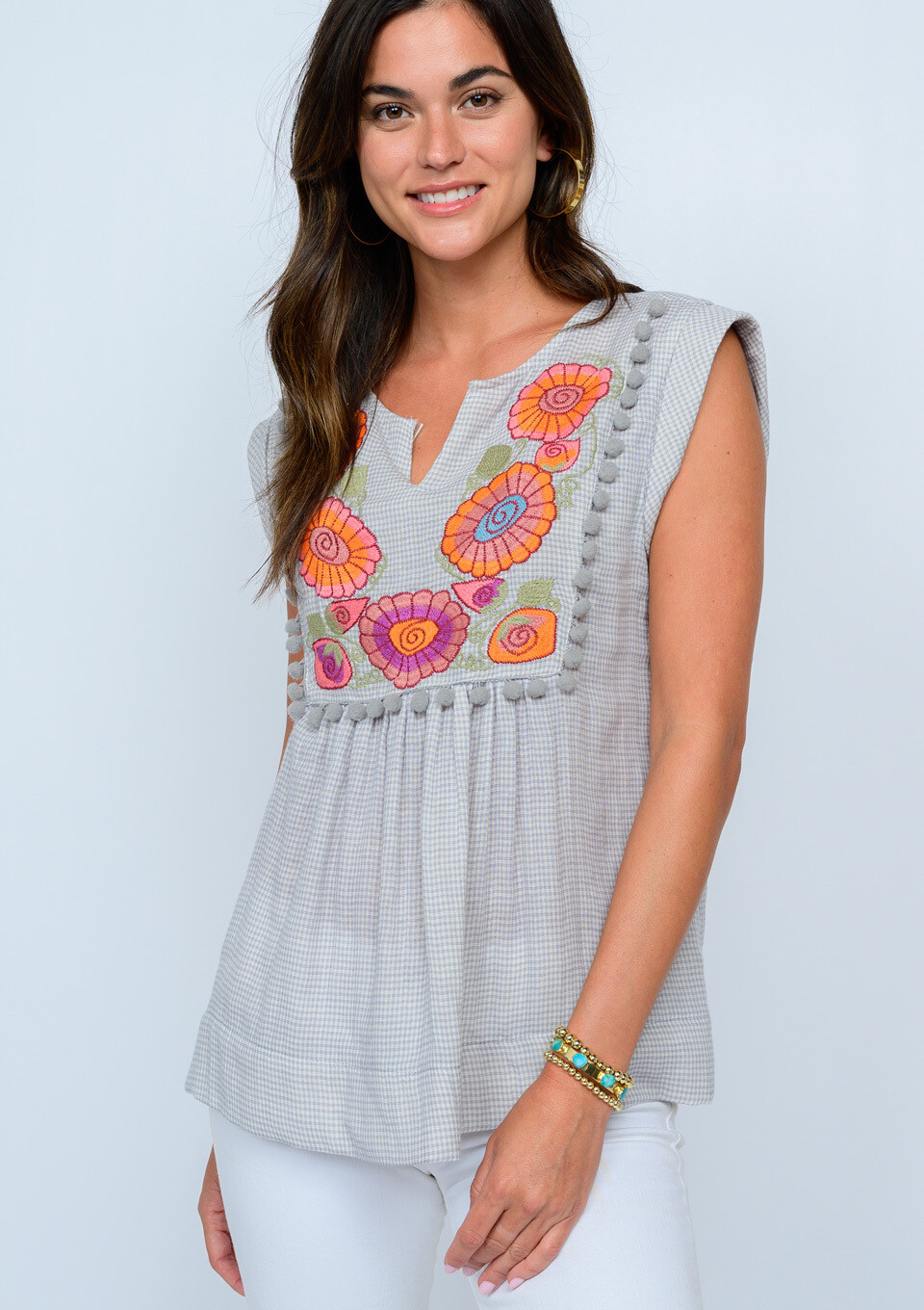 Flower Necklace Top