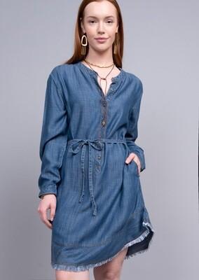 Denim Tencel Shirt Dress