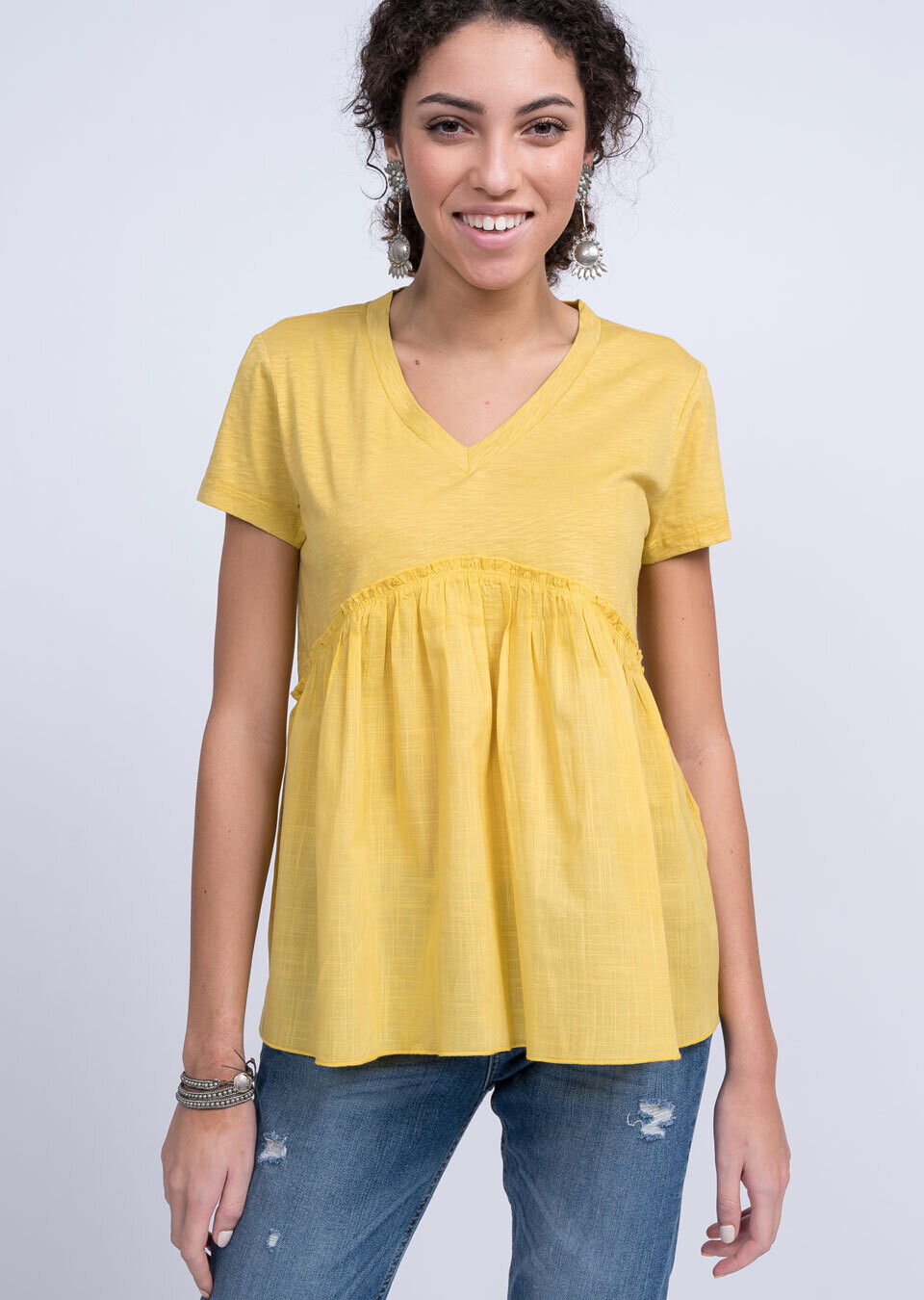 Baby Doll Top yellow