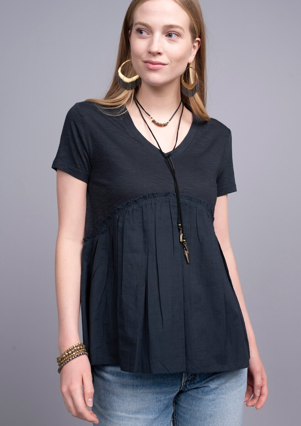 Baby Doll Top Black