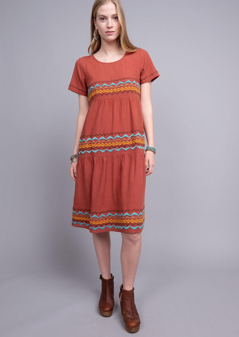 Zig Zag Tiered Dress