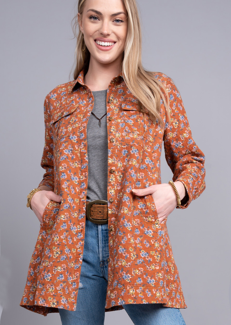 Swing Floral Shacket