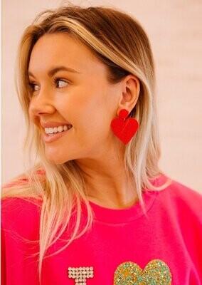 Beaded Heartbeat Earrings