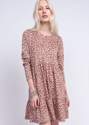 Blushing Leopard Dress