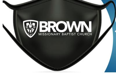 Mask-Brown Baptist Logo