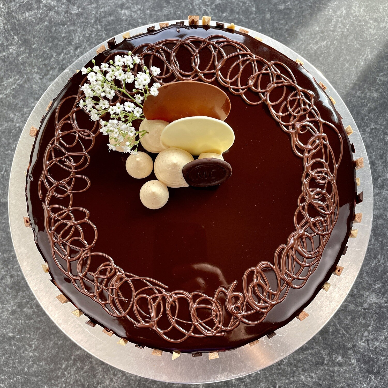 Chocolate Peanut Butter Bliss Cake