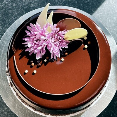 Chocolate Mousse Cake with Organic Berry Crémeux