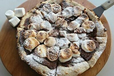 Pizza di Nutella y Marshmallow