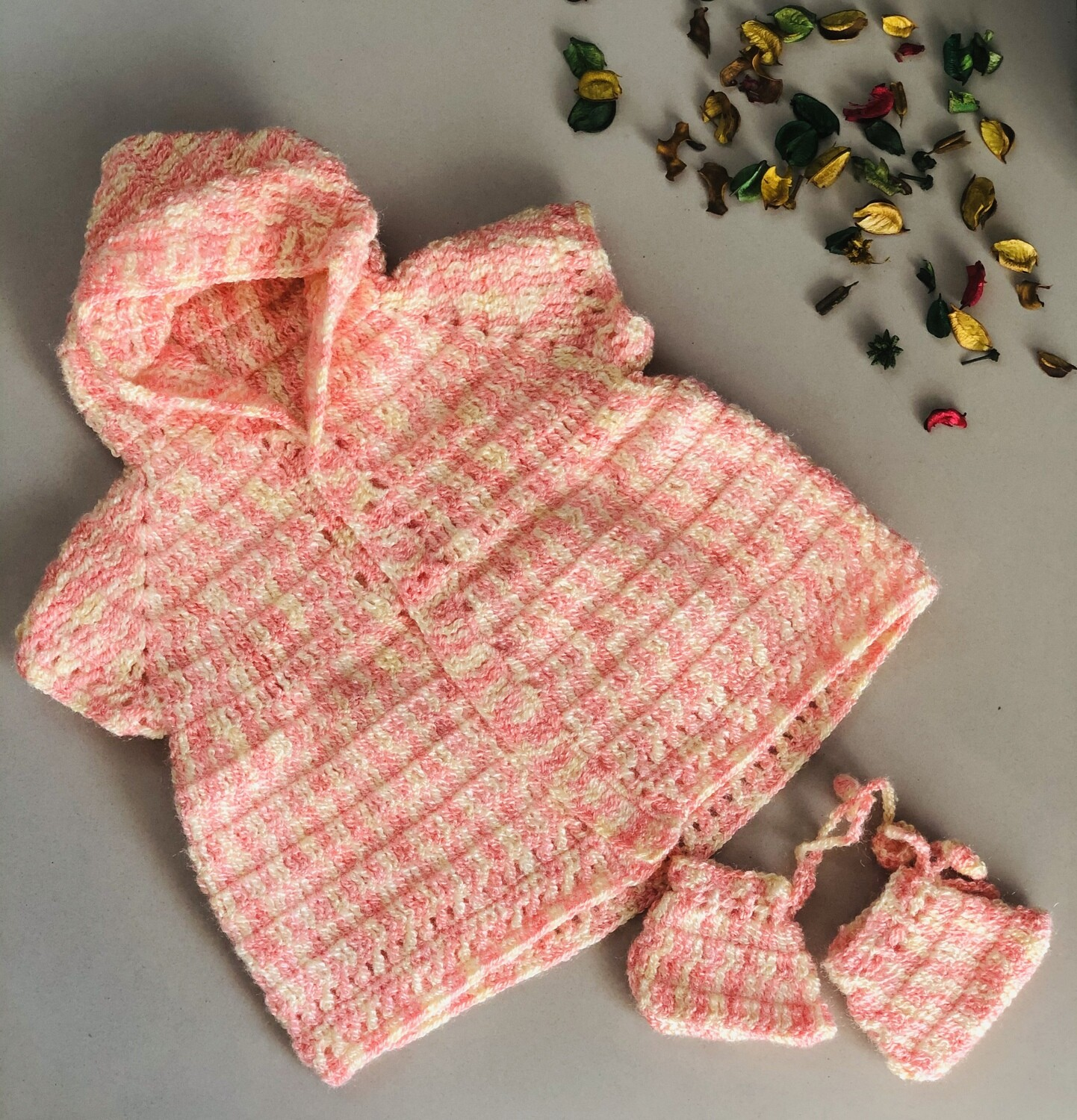 Baby Candy dress with hoodie and bootie combo