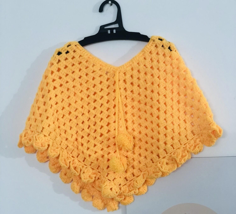Sunshine yellow poncho