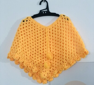 Sunshine yellow poncho
