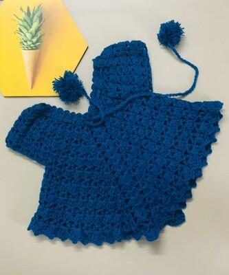 Dark blue poncho