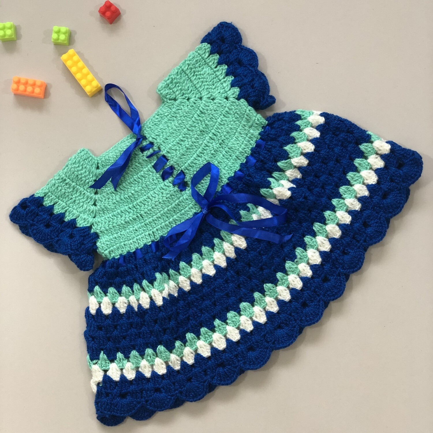 Blue And Green Baby Dress