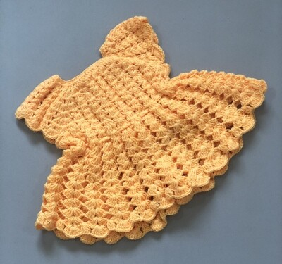 Baby girl knitted Yellow frock