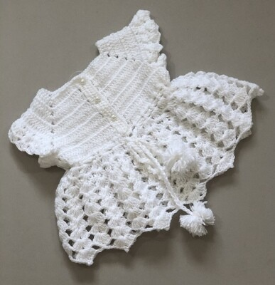 Baby girl knitted White frock