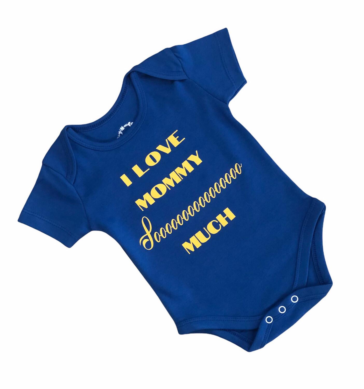 Newborn Collectible Onesie With Quote (Blue, 0-6 Months)