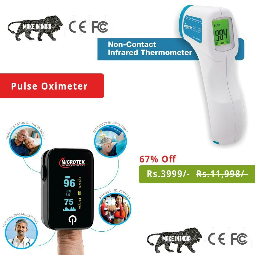 Infrared thermometer and Pulse oxymeter Combo