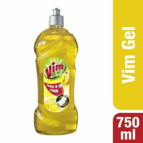 Vim Dishwash Liquid Gel Lemon 750ml Bottle