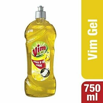 Vim Dishwash Liquid Gel Lemon 750ml Bottle