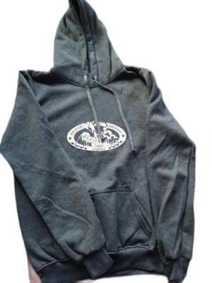 Branded Hoodie Jumper - Grey