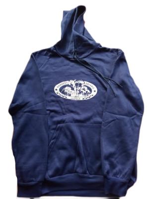 Branded Hoodie Jumper - Navy Blue