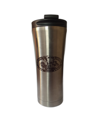 Branded Car Travel Mug - Silver