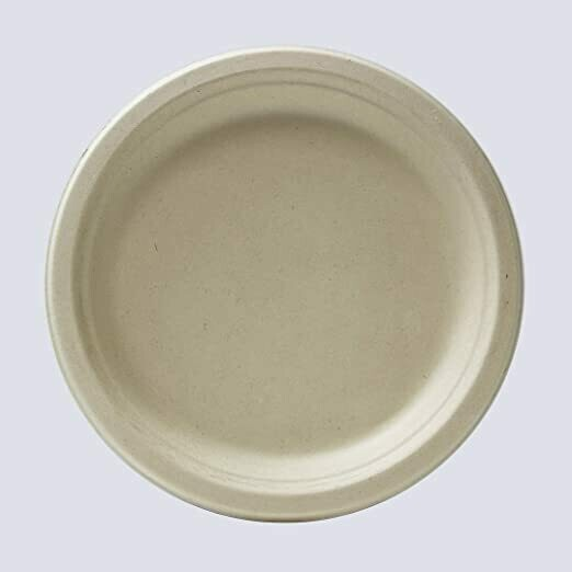Caribe Compostables 7'' Round Fiber Plate 1000 Units per case