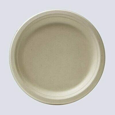 Caribe Compostables 7'' Round Fiber Plate 1000 Units per case