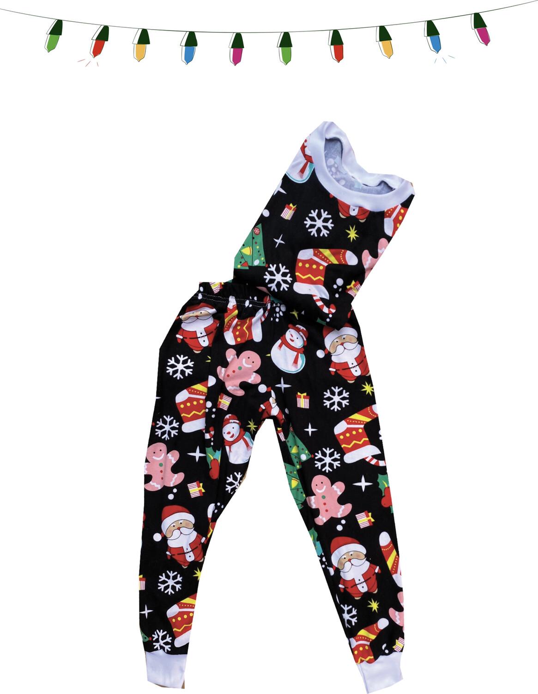 Pijama - Navidad Negro Figuras -