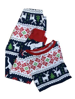 Pijama - Navidad Azul Renos -