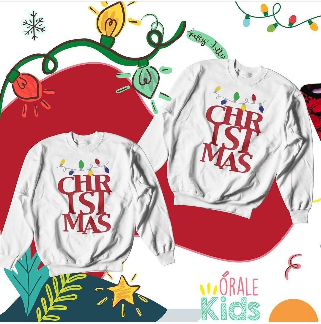 Sweatshirt - Christmas White -
