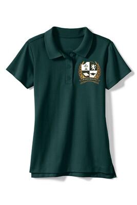 Girls Hunter Green Polo
